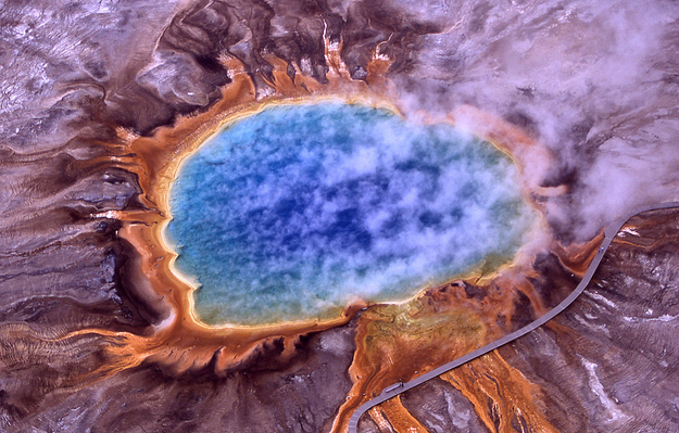 23. Grand Prismatic Spring - Yellowstone National Park, Wyoming