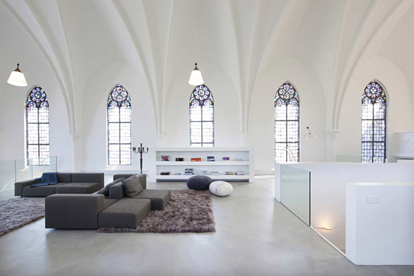 Church Converted Into Modern Family Home (2)