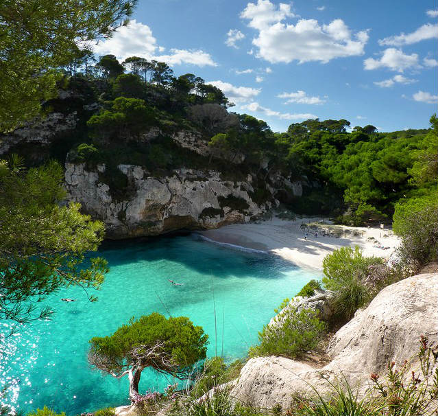 9. Blue waters of Menorca