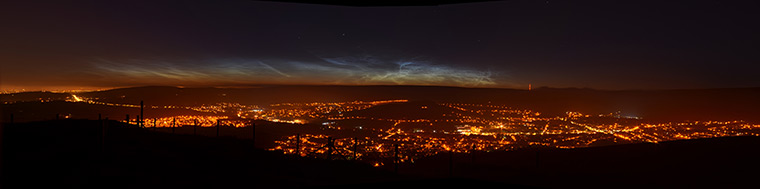 Full view of Noctilucent cloud