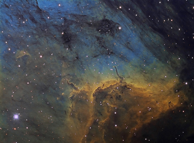 Herbig-Haro Objects in the Pelican Nebula