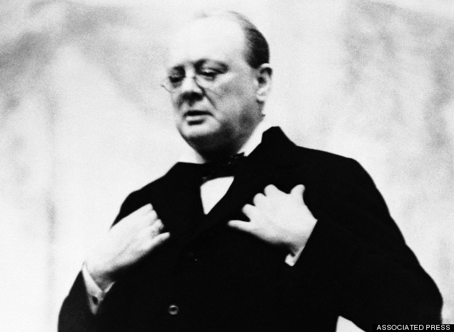 Winston Churchill is shown in the 1930s. (AP Photo)